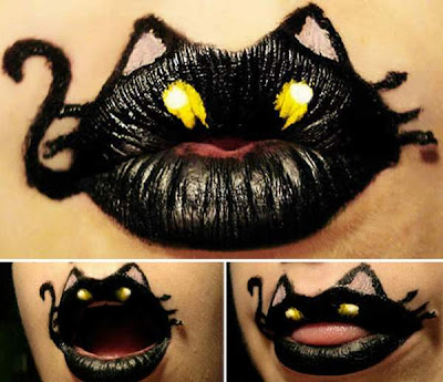 Beautiful And Creative Animal Lipstick Art
