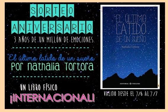 """Sorteo tercer aniversario: Un ejemplar de """"El último latido de un sueño"""" (INTERNACIONAL)"""
