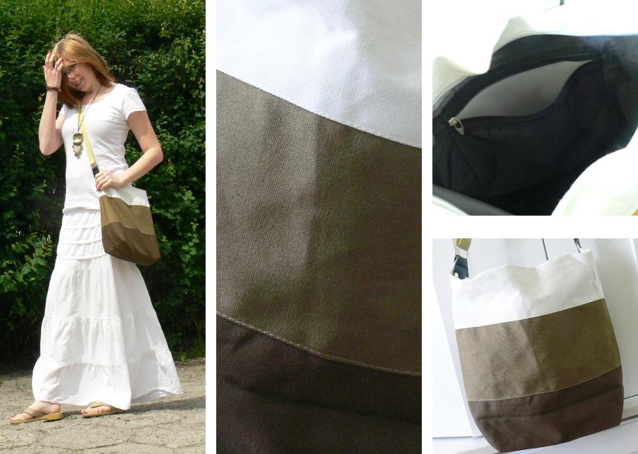 Torebka Rosewholesane Casual and Sweet Stripe Sacking One-Shoulder Bag