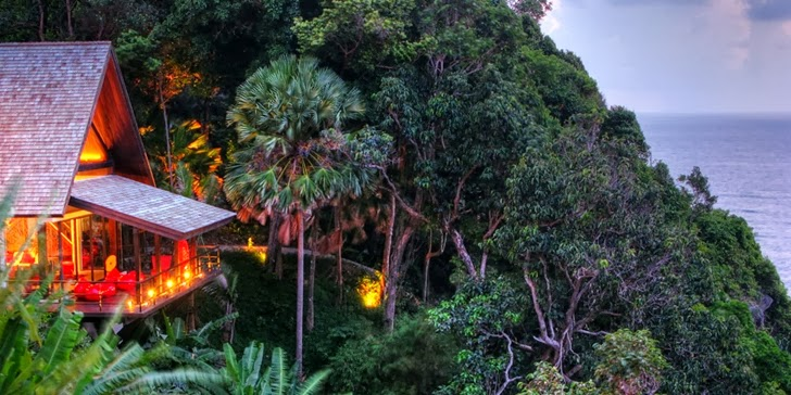 Trees around an Amazing contemporary Villa Yin in Phuket