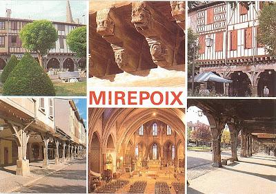 Mirepoix ist eine mittelalterliche Kleinstadt im Süden Frankreichs im Départment Arièges
