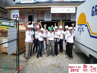 Elida Huignard, Wo-Built Inc. at a volunteer shift with Habitat for Humanity Toronto's Women Build, photo: May 2012 © wobuilt.com