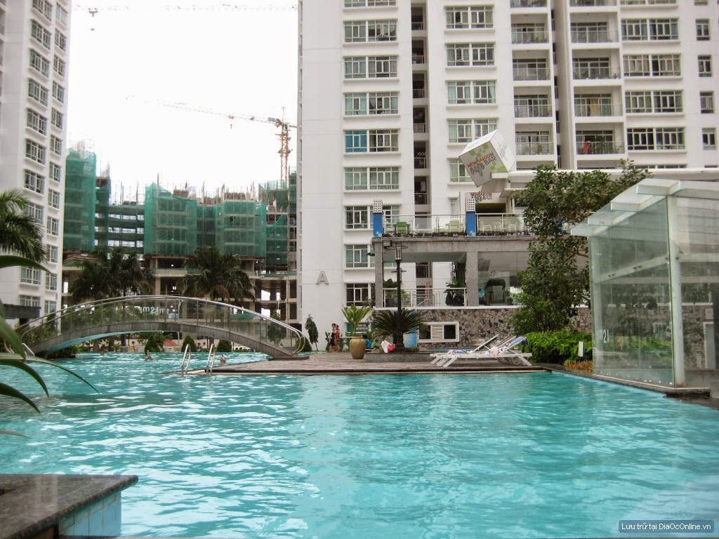 hồ bơi 400m2 tại căn hộ samland giai việt
