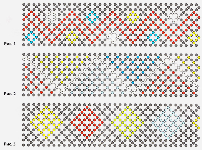 Браслеты-фенечки из бисера. Beaded Bracelets - weaving schemes