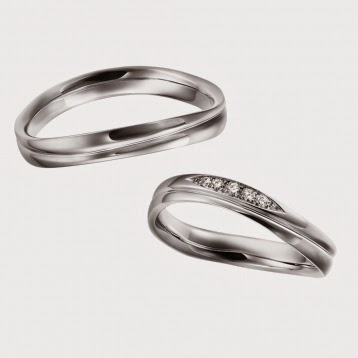 FURRER JACOT フラージャコー シンプル 鍛造 スイス ウェーブ プラチナ 結婚指輪 ダイヤモンド 栄