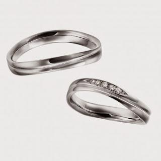 結婚指輪 シンプル 人気 鍛造 プラチナ ウェーブ ダイヤ スイス