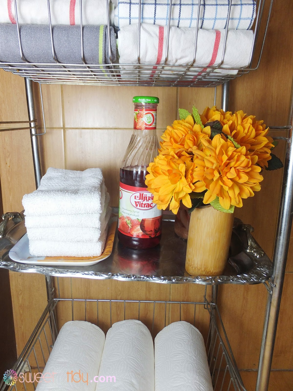 Organize kitchen cart