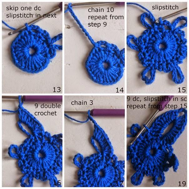 Flor al crochet explicada paso a paso con fotos crochet - Labores de ganchillo para principiantes ...