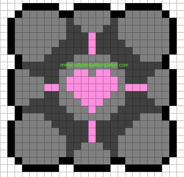 Minecraft Pixel Art Templates  Companion Cube