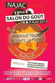 Salon du Goût 2013 de Najac aveyron