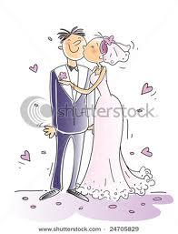 Foto Kartun Ciuman masa pernikahan