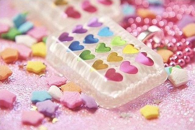 Corazones de caramelos