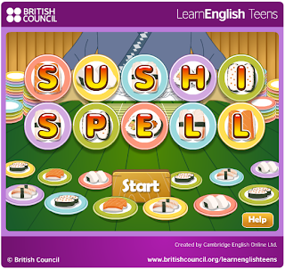http://learnenglishteens.britishcouncil.org/study-break/games/sushi-spell