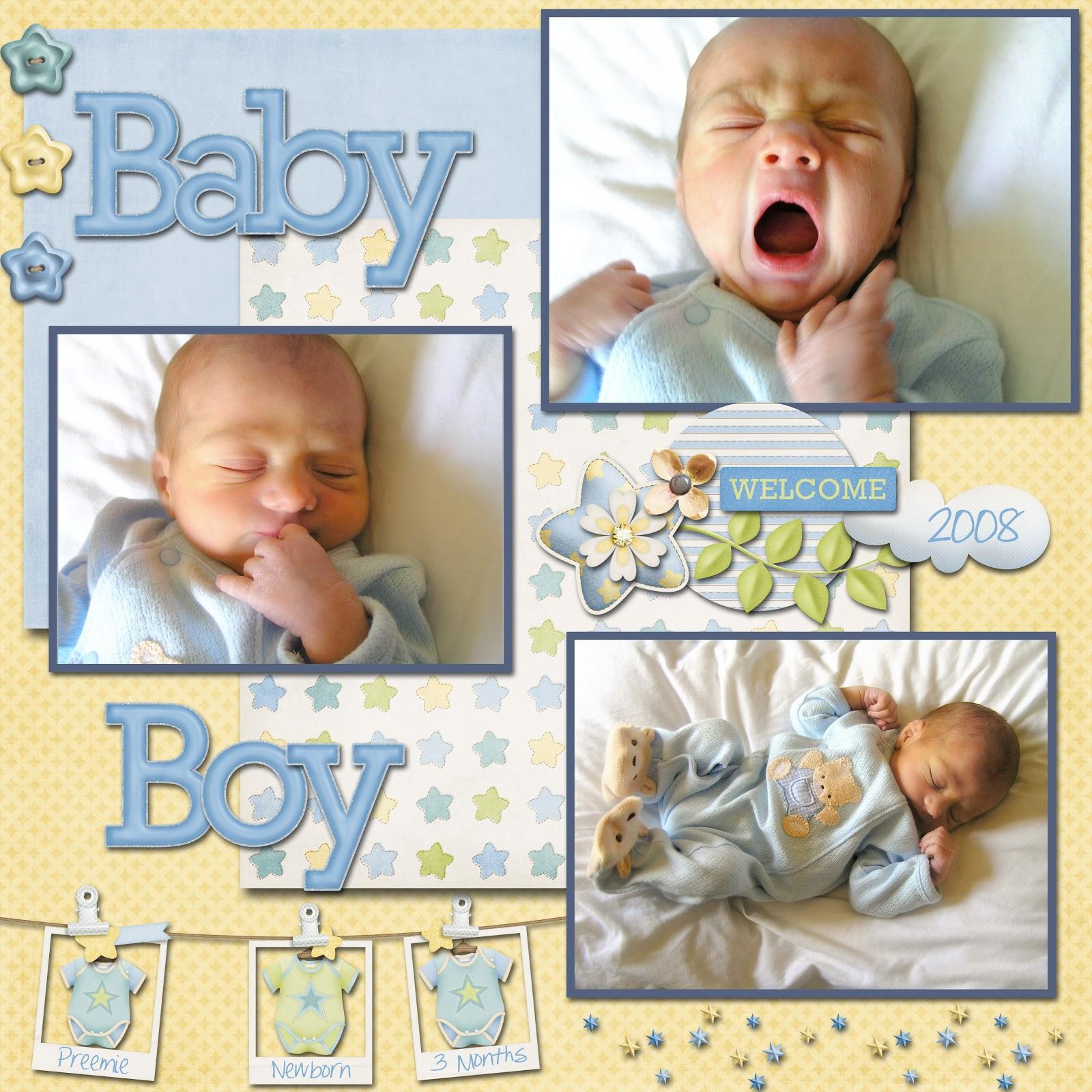 Baby scrapbook page ideas - Baby