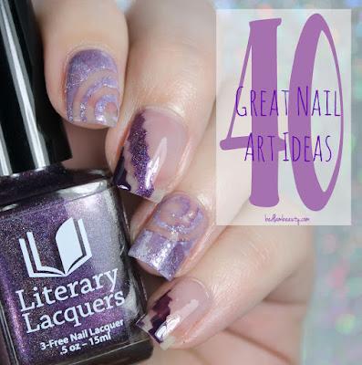 40 Great Nail Art Ideas: Three Shades of Purple + Negative Space