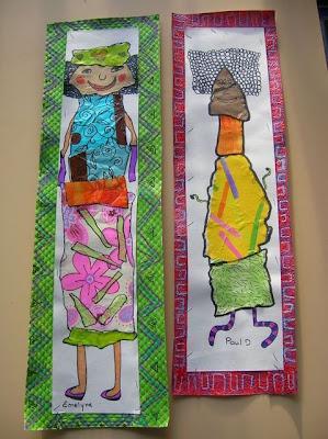 Collage con papel de regalo reciclado por Recicla Inventa