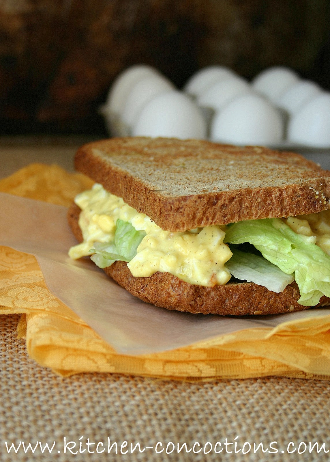 Website Wednesday: Curried Egg Salad - Kitchen Concoctions