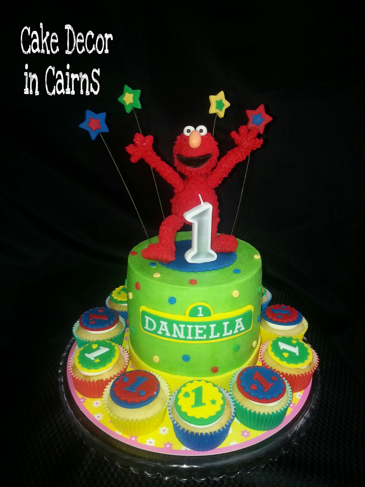 Elmo Fondant Topper Tutorial How to Make Cake Topper Coloured Green Ganache
