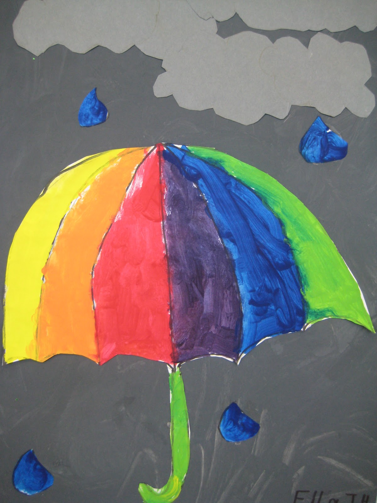 Art Room With A View Colour Wheel Umbrellas