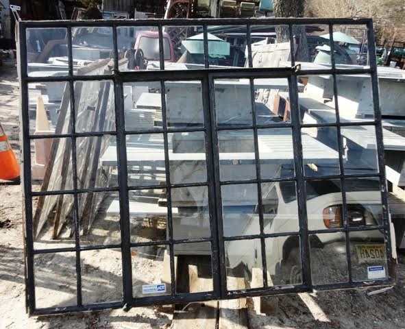 An Old Farm: Steel Factory Window Salvage