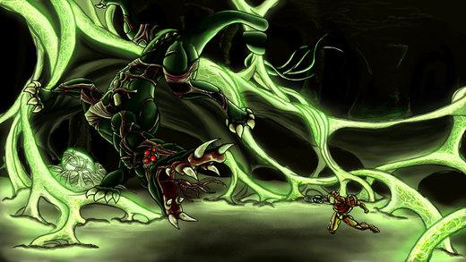 Metroid Bosses: Metroid Queen por Cronoan