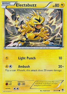 Electabuzz Furious Fists Pokemon Card