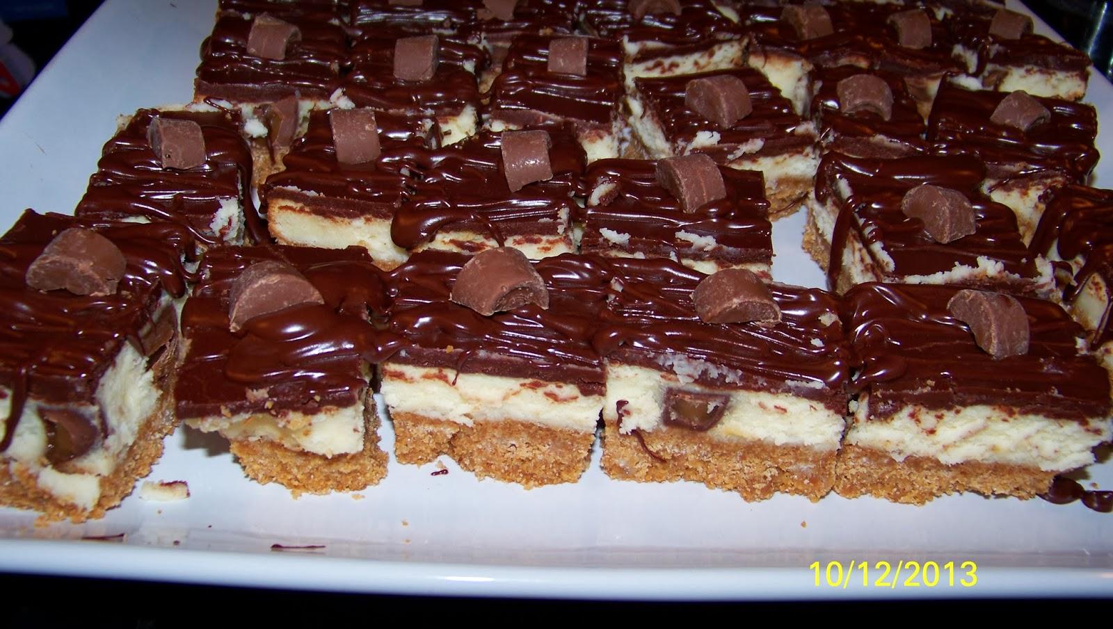 Rolo Cheesecake Bars Recipe — Dishmaps