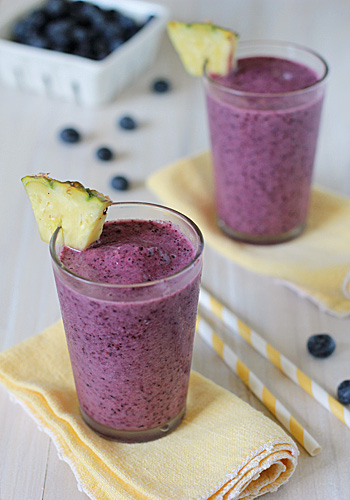 Pineapple-Blueberry Smoothie