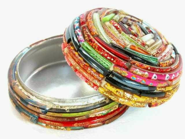 waste bangles craft ForCraft Using Waste Bangles