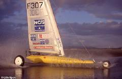 Glisse En Nord 39 Char A Voile A Vitesse Record Avec Pierre Yves Gires Dunkerque Club Les Albatros