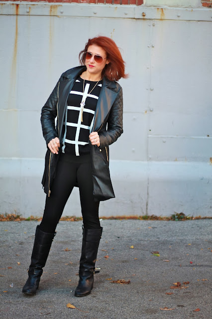 michael kors quilted leather coat
