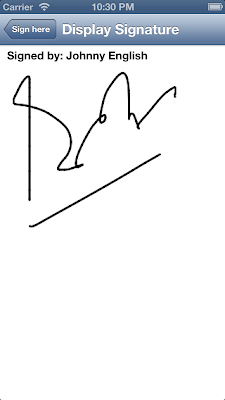 iOS signature using quadratic bezier curve