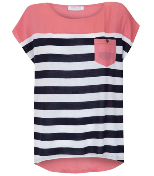 Colored Stripes Stripes And Color Block Shirt
