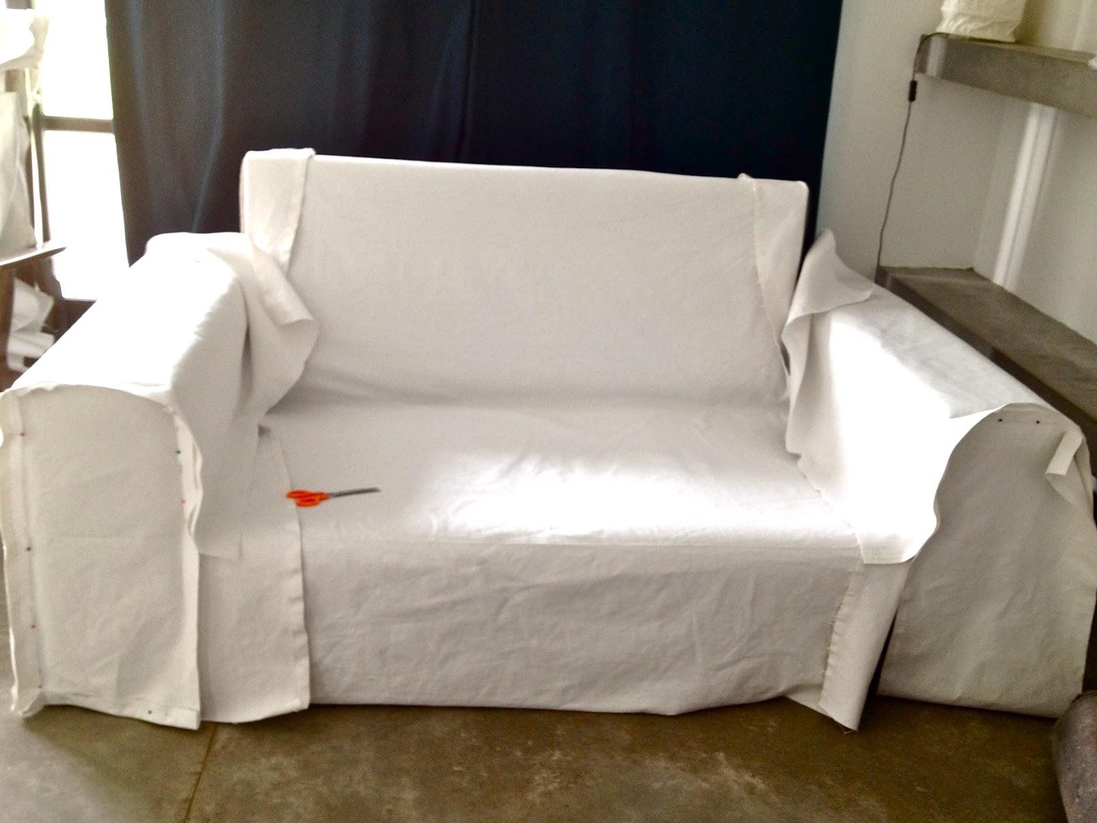 Funda blanca para mi sill n casi tutorial parte 2 lote 93 - Como hacer una funda para un sofa ...