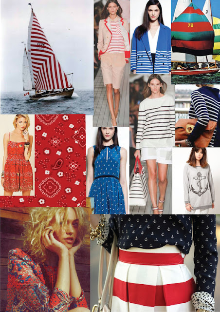 nautical fashion top dress trend print pattern ss13