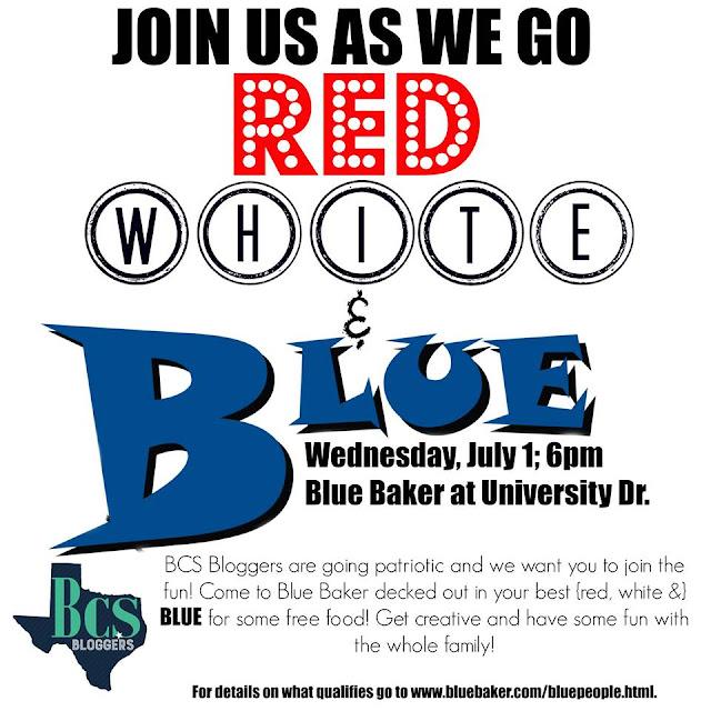 Red, White & Blue at Blue Baker