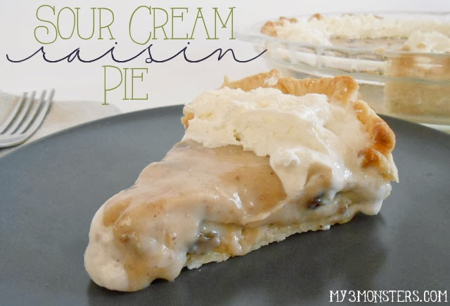 Sour Cream Raisin Pie recipe at my3monsters.com