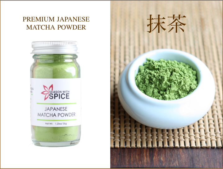 Premium Japanese Green Tea Matcha Powder available at SeasonWithSpice.com