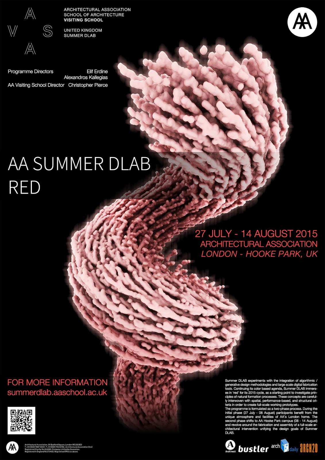 AA Summer DLAB 12 London And Hooke Park News McNeel Interesting Summer Dlab 2015 Red