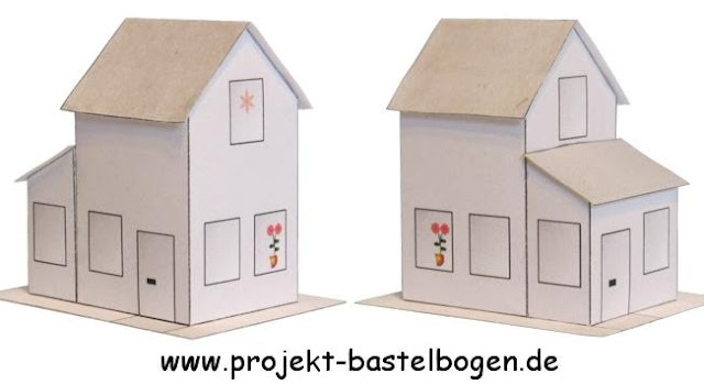 Created By My Friend The German Designer Boris Voigt From Projekt Bastelbogen Website Here Are Two New Paper Models Of Houses In 1 160 Scale