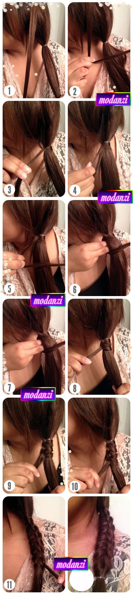 Çin Merdiven Örgüsü Saç Modeli Nasıl Yapılır ? ( Resimli Anlatım )