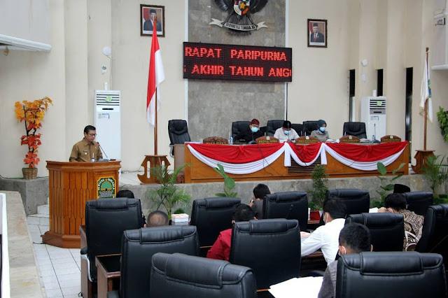 Rapat Paripurna Notta LKPJ Bupati Subang
