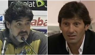 Guerra verbal entre Diego Maradona y Leonardo