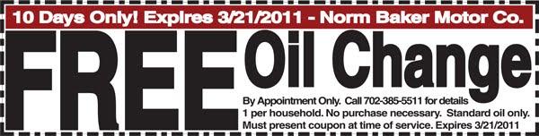 Oil change coupons las vegas
