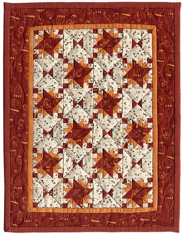 Martha Wolfersberger's mini-quilt pattern, Cranberry Relish, ...