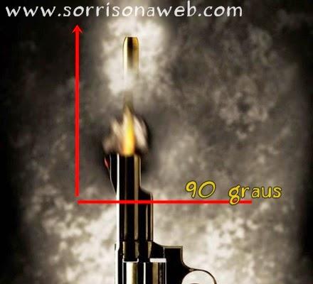 arma de fogo disparando para cima