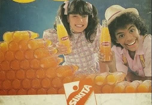 Propaganda da Sukita com a Simony e Jairzinho