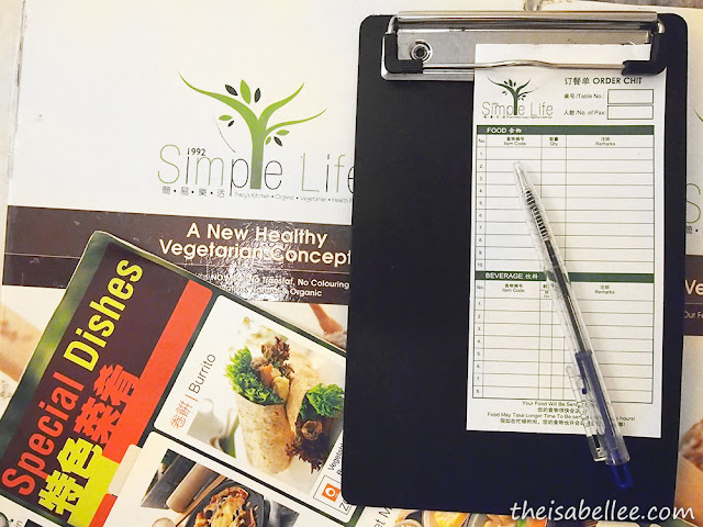 Simple Life Restaurant menu