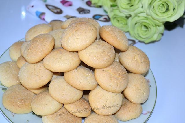 Gâteau marocain à la vanille, Ghoriba marocaine à la vanille, ghriba marocaine