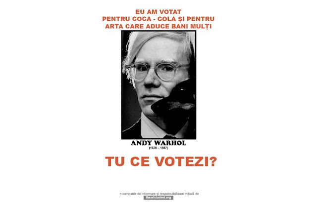 the art student vote campaign university of arts iasi art students initiatives andy warhol
